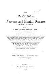 Journal of Nervous and Mental Disease: Volume 19