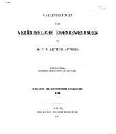 Publikation der Astronomischen Gesellschaft: Band 7,Teil 2