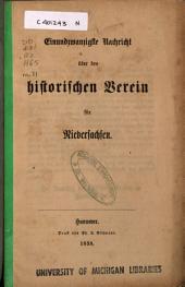 Nachricht über den Historischen Verein für Niedersachsen: Ausgabe 21