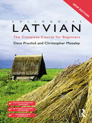 Colloquial Latvian  eBook And MP3 Pack