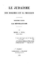 Le Judaïsme ses dogmes et sa mission: La Révélation (1868)