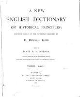 A New English Dictionary on Historical Principles PDF
