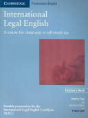 International Legal English Teacher's Book