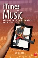 iTunes Music  Mastering High Resolution Audio Delivery PDF