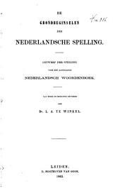 De grondbeginselen der Nederlandsche spelling