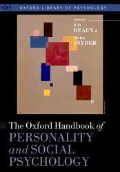 The Oxford Handbook Of Personality And Social Psychology Book PDF