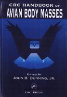 CRC Handbook of Avian Body Masses PDF