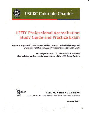 LEED Professional Accreditation Study Guide and Practice Exam
