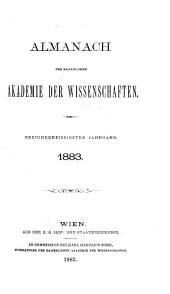 Almanach der kaiserlichen Akademie der Wissenschaften für das Jahr ...: Band 33