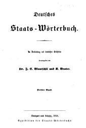 Deutsches staats-wörterbuch: Band 3