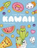 Cute and Easy Kawaii Colouring Book