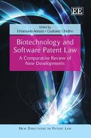 Biotechnology and Software Patent Law PDF