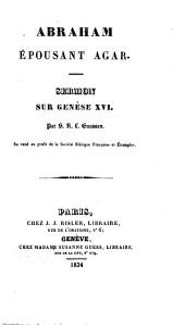 Abraham épousant Agar: sermon sur Genèse XVI