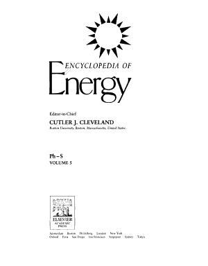 Encyclopedia of Energy  Ph S PDF