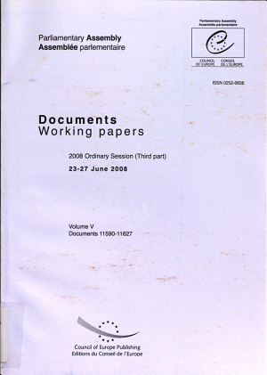 Parliamentary Assembly   Working Papers   2008 Ordinary Session  Third Part   23 27 June 2008   Volume V  2009  PDF