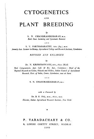Cytogenetics and Plant Breeding PDF
