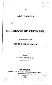 An Abridgment of Elements of Criticism