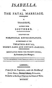 British Theatre: Isabella, or, The fatal marriage