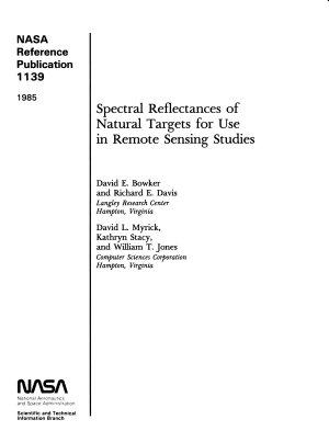Spectral Reflectances of Natural Targets for Use in Remote Sensing Studies