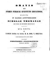 Oratio de finibus publicae iuventutis educationis, habita 31 Decembr. 1844