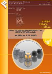 Frattura ed Integrità Strutturale - Annals 2013: Fracture and Structural Integrity