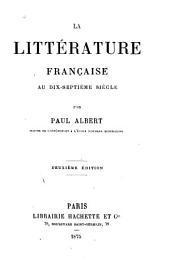 La littérature française au dix-septième siècle