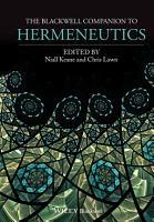 A Companion to Hermeneutics PDF