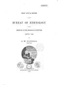 Annual Report of the Bureau of American Ethnology to the Secretary of the Smithsonian Institution PDF