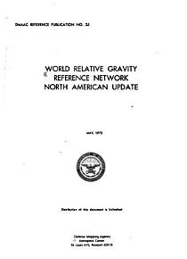 World Relative Gravity Reference Network  North American update PDF