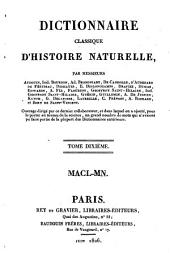 Dictionnaire classique d'histoire naturelle: Macl - Mn, Volume10