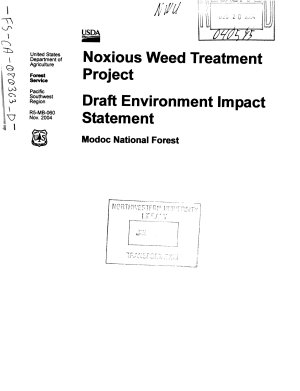 Modoc National Forest  N F    Noxious Weed Treatment Project