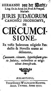 Iuris Iudaeorum Canonici Prodromus de Circumsione
