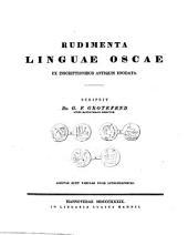 Rudimenta linguae oscae: ex inscriptionibus antiquis enodata