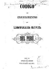 Codigo de enjuiciamientos en materia civil del Perú