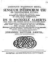 Diss. inaug. med. de sensuum internorum usu in oeconomia vitali