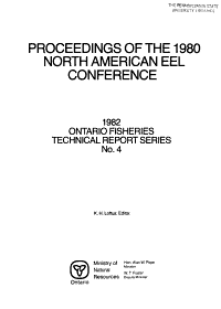 Proceedings of the 1980 North American Eel Conference PDF