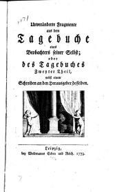 Geheimes tagebuch: Von einem beobachter seiner selbst, Band 2