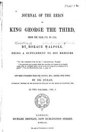 Journal of the Reign of King George the Third: From the Year 1771 to 1783, Volume 1