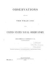 Astronomical and Meteorological Observations Made at the United Statees Naval Observatory During the Year ...