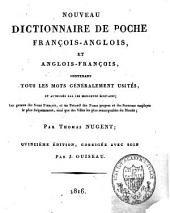 The new pocket dictionary of the French and English languages: in two parts : 1. French and English, 2. English and French