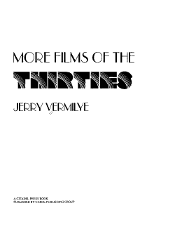 More Films of the Thirties PDF