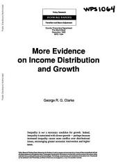 More Evidence on Income Distribution and Growth