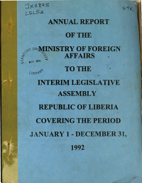 Annual Report of the Minister of Foreign Affairs  R L  Book