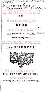 Histoire de l'Académie royale des sciences avec les mémoires de mathématique et physique: Volume2