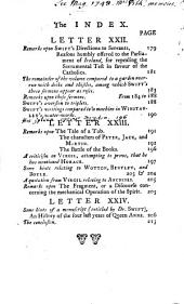 Remarks on the Life and Writings of Dr. Jonathan Swift: Dean of St. Patrick's, Dublin; in a Series of Letters