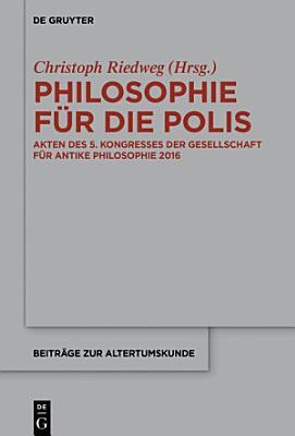 Philosophie f  r die Polis PDF