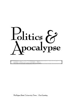 Politics and Apocalypse PDF
