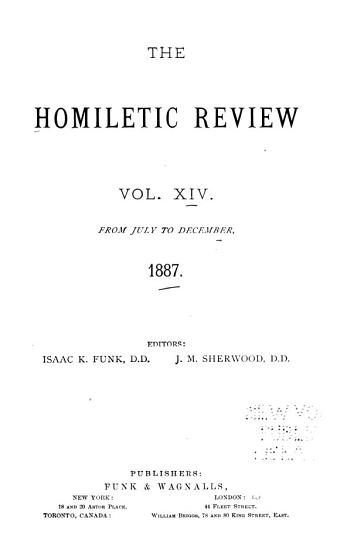 Homiletic Review PDF