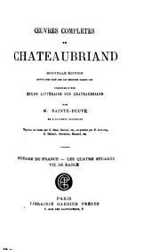 Historie de France. Les quarte Stuarts. Vie de Rancé.t