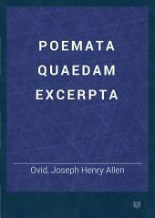Poemata quaedam excerpta